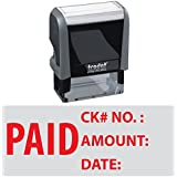 Trodat 4912 Rectangle Stock Self Inking Rubber Stamp With Paid Check No Amount Date
