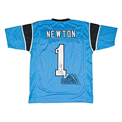 Cam Newton Autographed Carolina Panthers Blue Custom Jersey - GT Sports Marketing COA