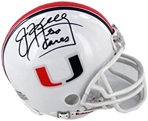 NCAA Miami Hurricanes Jim Kelly Autographed Helmet by Steiner Sports