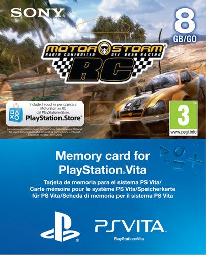 PlayStation Vita – MotorStorm RC Voucher + 8 GB Memory Card