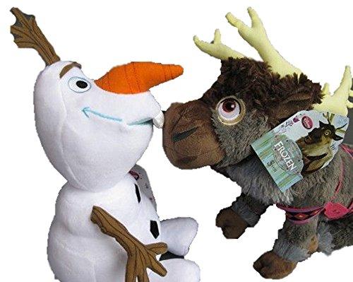 Love Baby Disney Store Frozen Olaf Snowman &Sven Reindeer Plush Toy Set Of 2 front-54717
