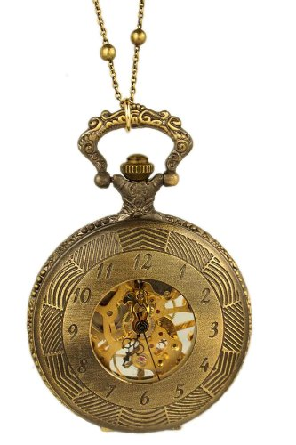 Vintage Looking Locket Watch Pendant with Chain