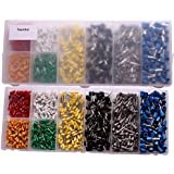 Electrical Terminals Teenitor 800 Pieces Electrical Terminal Assortment with Storage Box