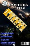 AOR Power 1.5 Volt Alkaline AG3/LR41 Button Battery, 10 Pack