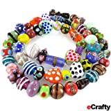 eCraftys Everything But the Kitchen Sink! ONLY LAMPWORK Glass Beads Mix 1/2 Lb