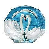【Woliwowa】 美しい 湖の 上の 白鳥 カップル デザイン ガラス製 灰皿 [並行輸入品]