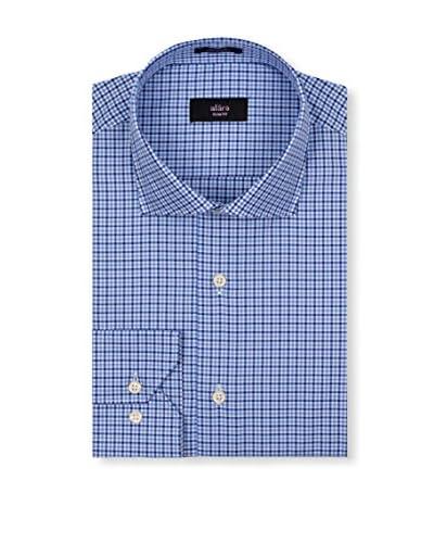 Alara Men's Checked Euro Collar Slim Fit Dress Shirt