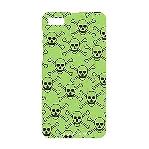 Mozine Green Skull printed mobile back cover for Blackberry z10