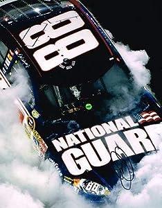 Dale Earnhardt Jr. Signed Photograph - BURNOUT 11X14 COA - Autographed NASCAR Photos by Sports Memorabilia