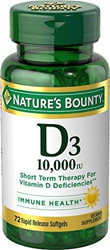 Nature's Bounty Vitamin D3 10,000 IU, 72 Softgels (Vitamin D 10000 Iu compare prices)
