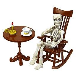 Pose skeleton accessories rocking chair set