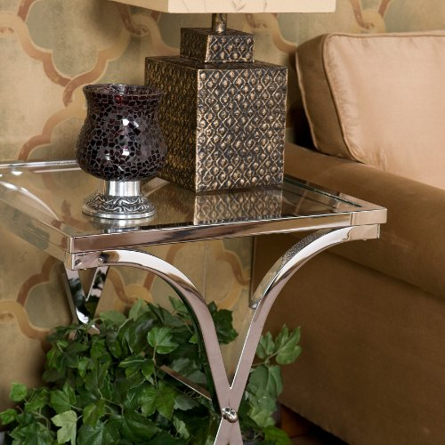SEI Vogue Chrome End Table