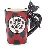 """""""Lady Of the House"""" Ladybug 13 ounce Coffee Mug Adorable Gift"""