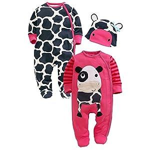 M&a Mono Body Pijama Jumpsuit OtoÑo Invierno Para BebÉ NiÑo NiÑa Unisex