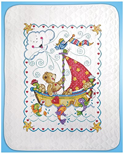Tobin Sail Away Baby Quilt Stamped Cross Stitch Kit (Baby Quilts Stamped Cross Stitch compare prices)