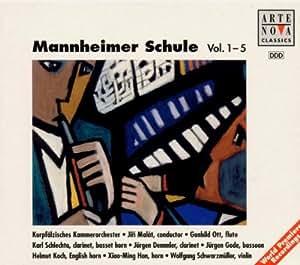 Stamitz/Danzi/Fuchs/Dimmler/Winter/Tausch/Blasius/Fiala/Demar: Mannheimer Schule, Vols. 1-5