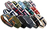 NATO Watch Bands; 12 Colors, 3 Widths (18mm, 20mm or 22mm);...