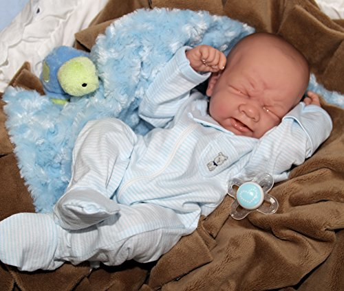 IT'S A BABY BOY! Crying PREEMIE Berenguer Life Like Reborn Pacifier Doll +Extras (Full Body Silicone Baby Boy compare prices)