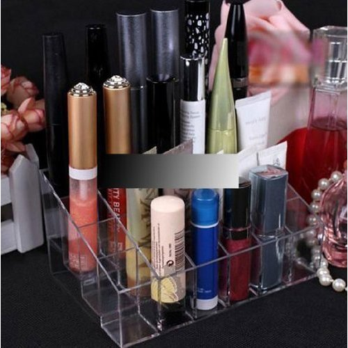 L-Zone-Clear-Cosmetic-Stand-24-Lipstick-Organizer-Nail-Polish-Makeup-Case-Display-Rack-Holder-Style-C-