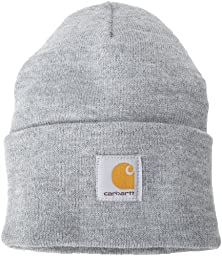 Carhartt Men\'s Acrylic Watch Hat,Heather Grey,One Size
