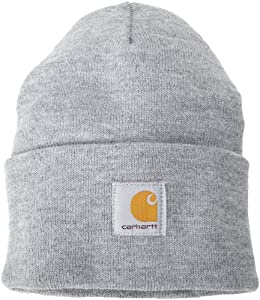 Carhartt Men's Acrylic Watch Hat, Heather Grey, One Size