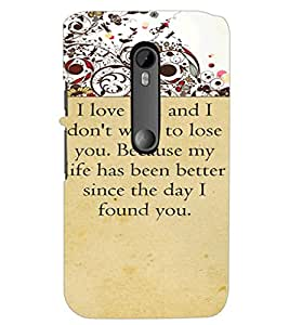 PrintDhaba Quote D-4715 Back Case Cover for MOTOROLA MOTO G3 (Multi-Coloured)