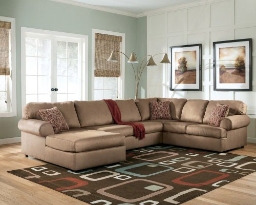 Brando 3-Piece Cocoa Sectional by Ashley - Cocoa Fabric (6440067R)