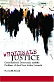 img - for Wholesale Justice: Constitutional Democracy and the Problem of the Class Action Lawsuit (Stanford Law Books) book / textbook / text book