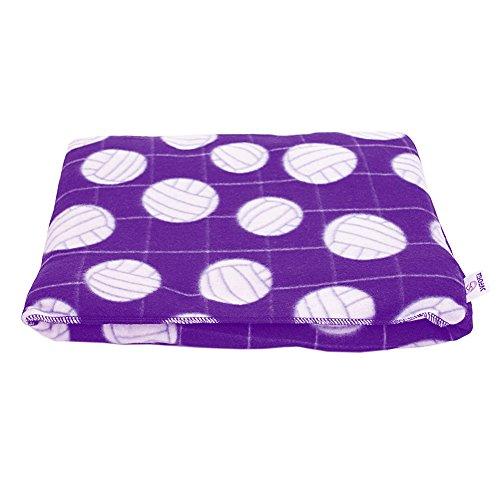 Stunning Volleyball Logo Pockethrow Fleece Blankets Purple Cheap minidal friut