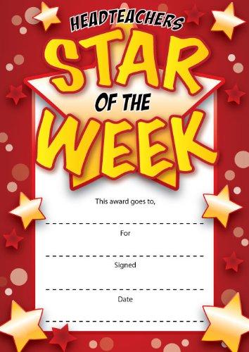 16 a6 headteachers star of the week certificates office