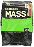 51Dq6ZY26%2BL. SL160  Optimum Nutrition Serious Mass Drink, Strawberry, 12 Pound