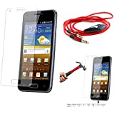 Qualitas Pack Of 2 Tempered Glass For Xiaomi Redmi Note 5.5 + 3.5mm Flat AUX Cable With Mic