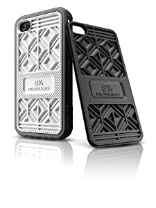 Musubo Sneaker Case  for iPhone 4/4S-Black w/black & white