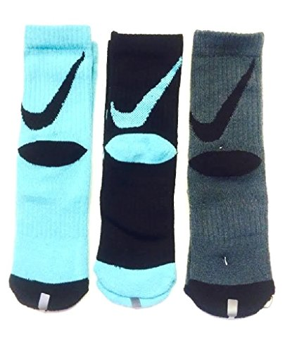 Nike Boys Big Swoosh Crew Socks 3 Pair, 13C-3Y injinji 2012 performance midweight mini crew toe socks