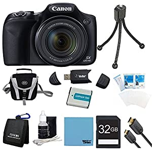 Canon Powershot SX520 HS 16.0 MP Digital Camera with 42x Optical Zoom and 1080p Full HD Video Ultimate Bundle With Digpro Case , 32GB High Speed Card ,Additional Battery , Card Reader, HDMI Cable And More