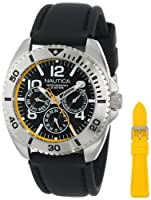 Nautica Men's N11608G Sport Ring Box Set Classic Analog Multi-Function Watch by Nautica