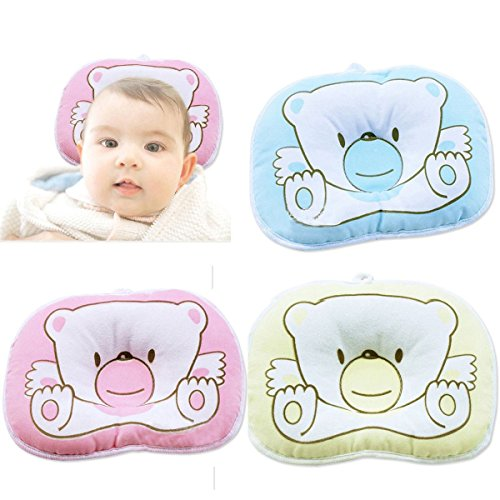 1X Bear Pattern Newborn Baby Boy Girl Antiskid Pillow Flat Head Sleeping Positioner front-9830