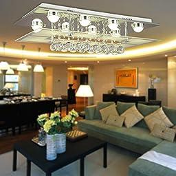 OOFAY LIGHT® Simple and elegant modern crystal light, 8-head crystal ceiling lamp for living room, Fashionable bedroom crystal ceiling lamp