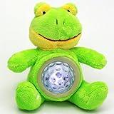 """Kuscheltier für Babys Einschlaftiere Einschlafhilfe """"Frosch"""" mit Musik"""