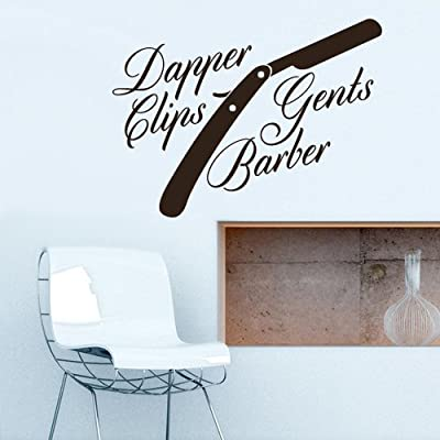Wall Vinyl Sticker Decals Decor Trend Hipster Haircut Salon Hairdresser Fashion Gents Barber Shop Sign Quote (Z3086)