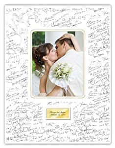. Wedding Annniversary Guestbook Guest Book Photo Mat - Single Frames