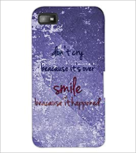 PrintDhaba Quote D-3858 Back Case Cover for BLACKBERRY Z10 (Multi-Coloured)