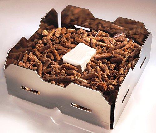 Kamin anz ndkorb pelletkorb zum kaminfeuer machen mit for Kamin mit brennpaste