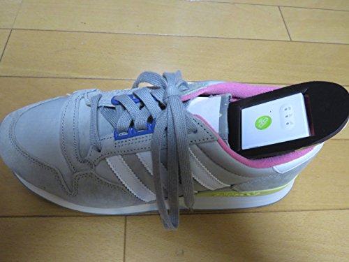 GPSシューズ「魔法の靴」 好みの靴に端末装着。