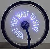 MAYMOC Wireless 30 LED Spoke Light 40 Pattern DIY Custom Programmable Colorful Hot Wheels Bicycle Wheel Lights with Wireless Receiver Message Bike Wheel Lights Riding Lighting