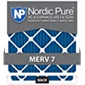 Nordic Pure 10x20x1M7-12 MERV 7 Pleated AC Furnace Air Filter, 10x20x1, Box of 12