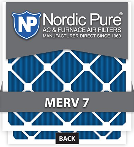 Nordic Pure 18x24x1M7-6 MERV 7 Pleated AC Furnace Air Filter, 18x24x1, Box of 6