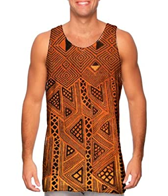 NewStyleUSA- African Tribal Kuba Cloth Triangles -Tagless- Mens Tank Top