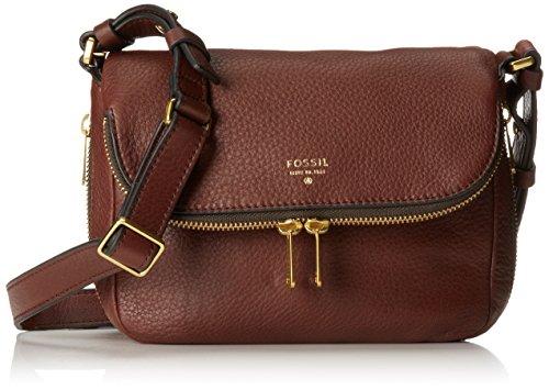 Fossil Preston Small Flap Cross Body Bag, Espresso, One Size (Fossil Preston Leather Flap compare prices)