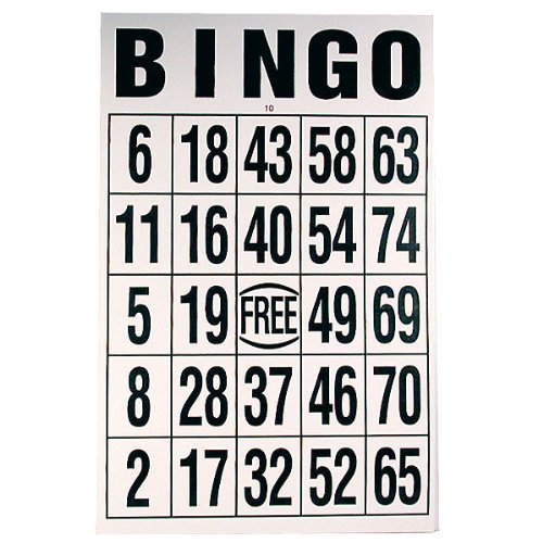 Buy Giant Print Bingo Card - Black on White Background